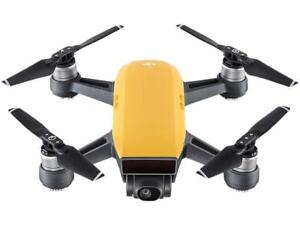 DJI Spark Palm Launch Quadcopter Drone with UltraSmooth Camera, Sunrise Yellow,