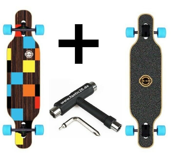 % Long Island Longboard Ebony Drop-Through + Herramienta Venta %%%