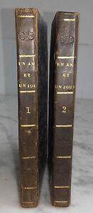 1820-UN-AN-ET-UN-JOUR-M-MONTOLIEU-ARTHUS-B-2-TOMES-TTES-TR-MOUCHETEES-BE-IN12