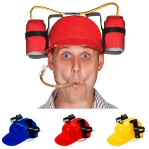 Beer-amp-Soda-Guzzler-Helmet-Drinking-Hat-Black-Party-Novelty-Gag-Gift-NEW
