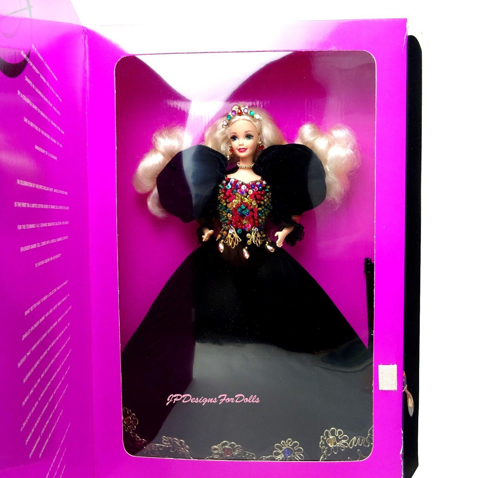1995 Jeweled splendore Barbie FAO nero Signature Collection leggermente consumato BOX