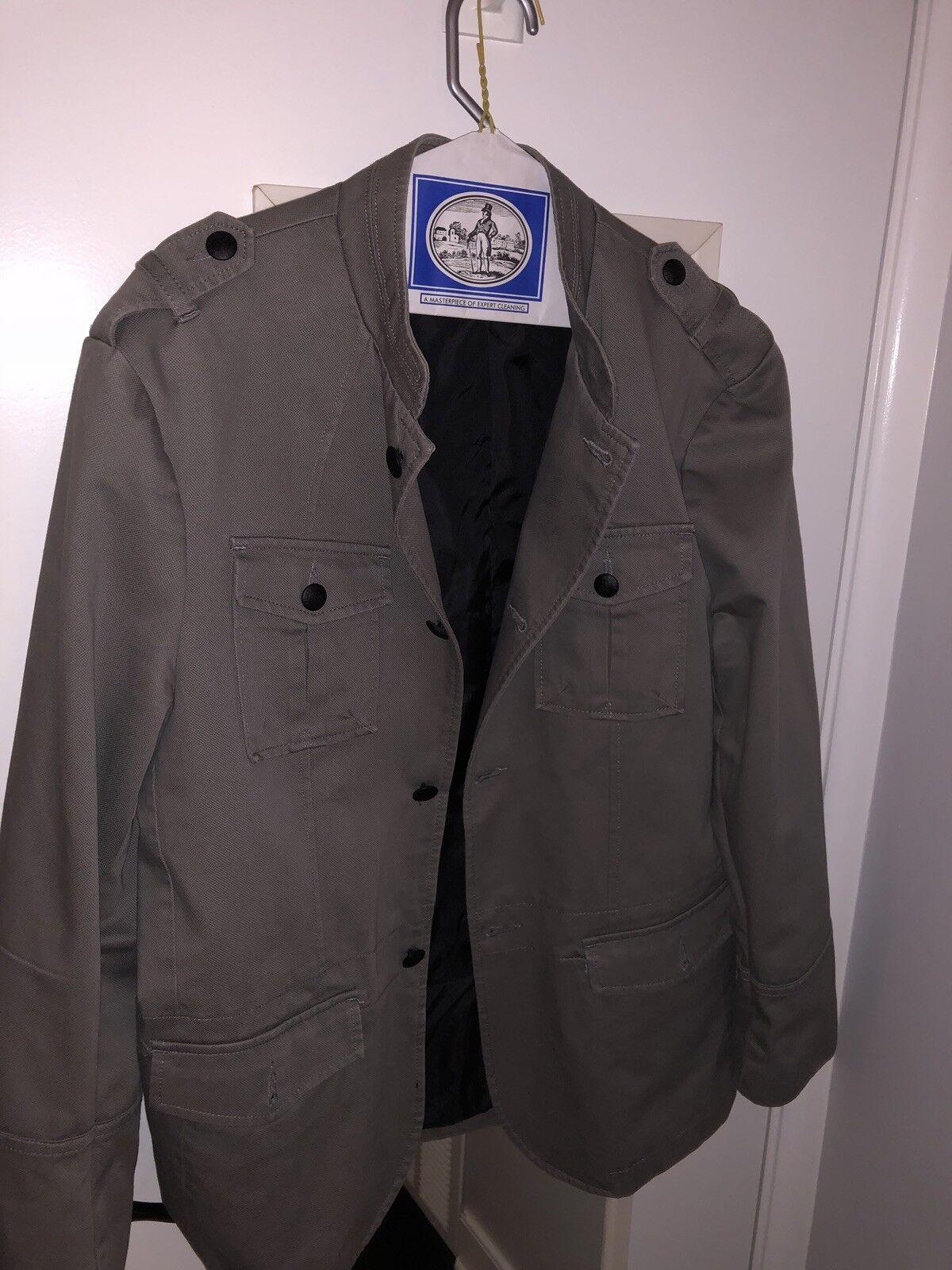 Kenneth Cole Reaction Dress Coat Grey Mens L