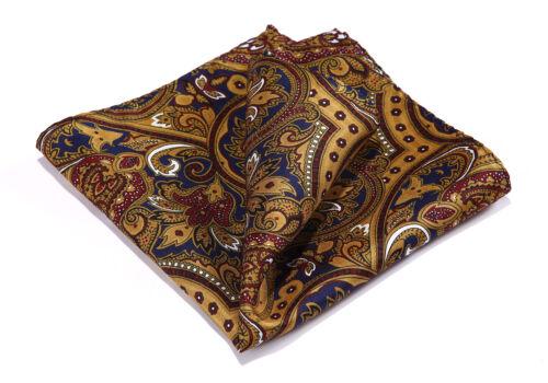 HN37Z Handkerchief 100/% Natural Silk Satin Mens Hanky Wedding Pocket Square