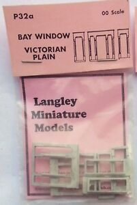 2-Bay-Windows-Victorian-Plain-OO-Scale-1-76-UNPAINTED-Part-P32a-Langley-Models