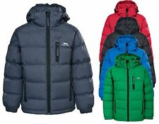 RRP £45! TRESPASS BOYS PUFFA PADDED SCHOOL JACKET/COAT WITH ZIP OFF HOOD Ttff