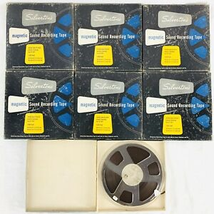 Vintage-Silverstone-57-261-Magnetic-Reel-to-Reel-Tapes-Lot-of-7-Prerecorded