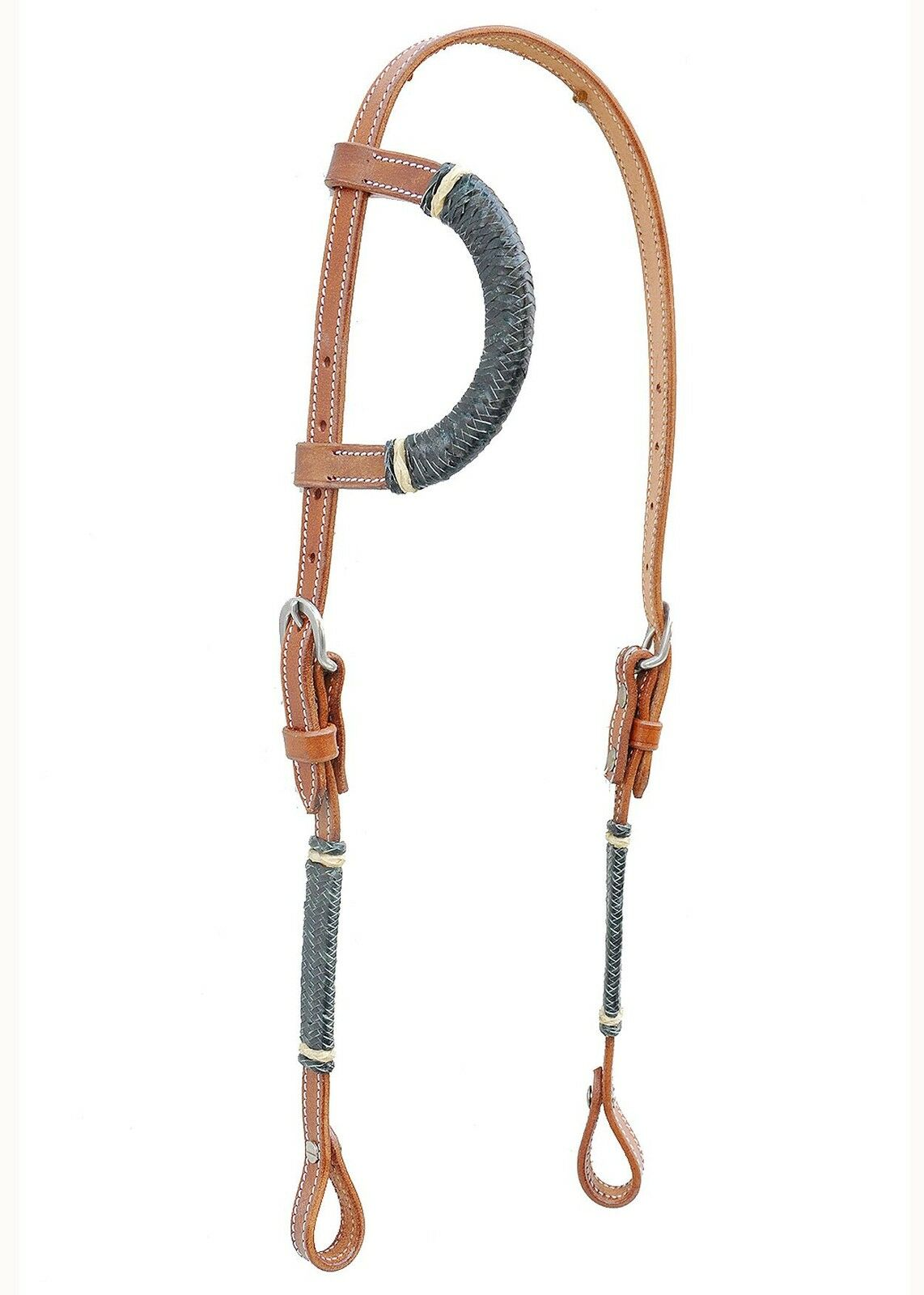 Western Natural One Year Set of  Weaved  Head Stall Reins Breast Collar  famous brand