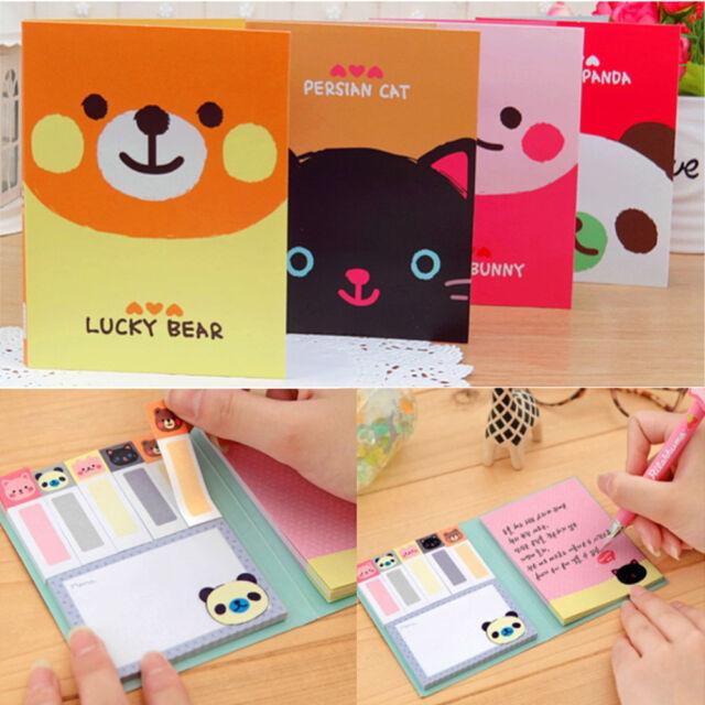 Portable Cute Cartoon Paper Notepad Memo Diary Notebook Exercise Book Useful