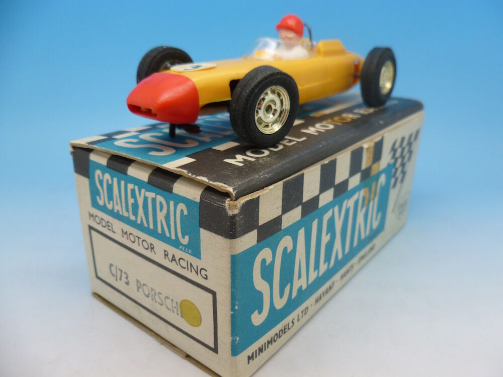 Scalextric C73 Porsche in yellow, box and car mint