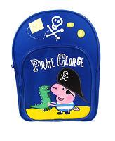 """Peppa Pig """"Pirate George"""" & Mr Dinosaur Backpack / School Bag / Rucksack"""
