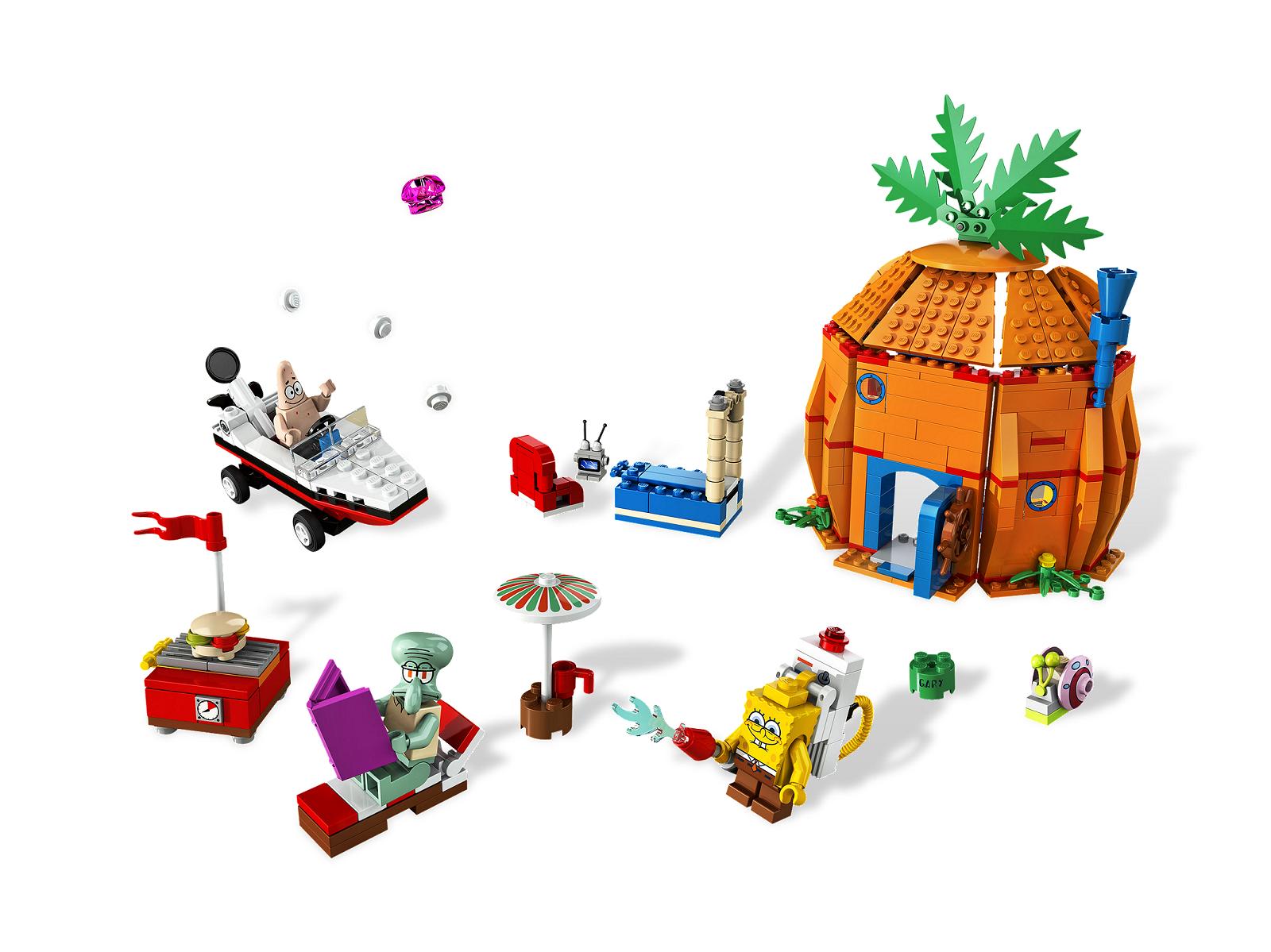 Lego 3834 Sponge Bob l'Eponge Good Neignbours complet + Notice de 2009 -CN162
