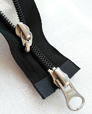 Reißverschluss SCHWARZ teilbar Nylon Größe 3 YKK Zipper Cipzár молния fermuar