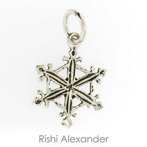 925 Sterling Silver SnowFlake Snow Flake Charm