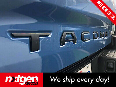 Tacoma 2016 2017 Red Sticker Emblem Tailgate Letters Inserts ABS Plastic