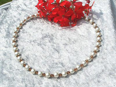 Brioso Collana Di Perle Champagne Perle Marrone Bicono Ornamento Da Sposa Sposa Sposa * Valore Eccezionale
