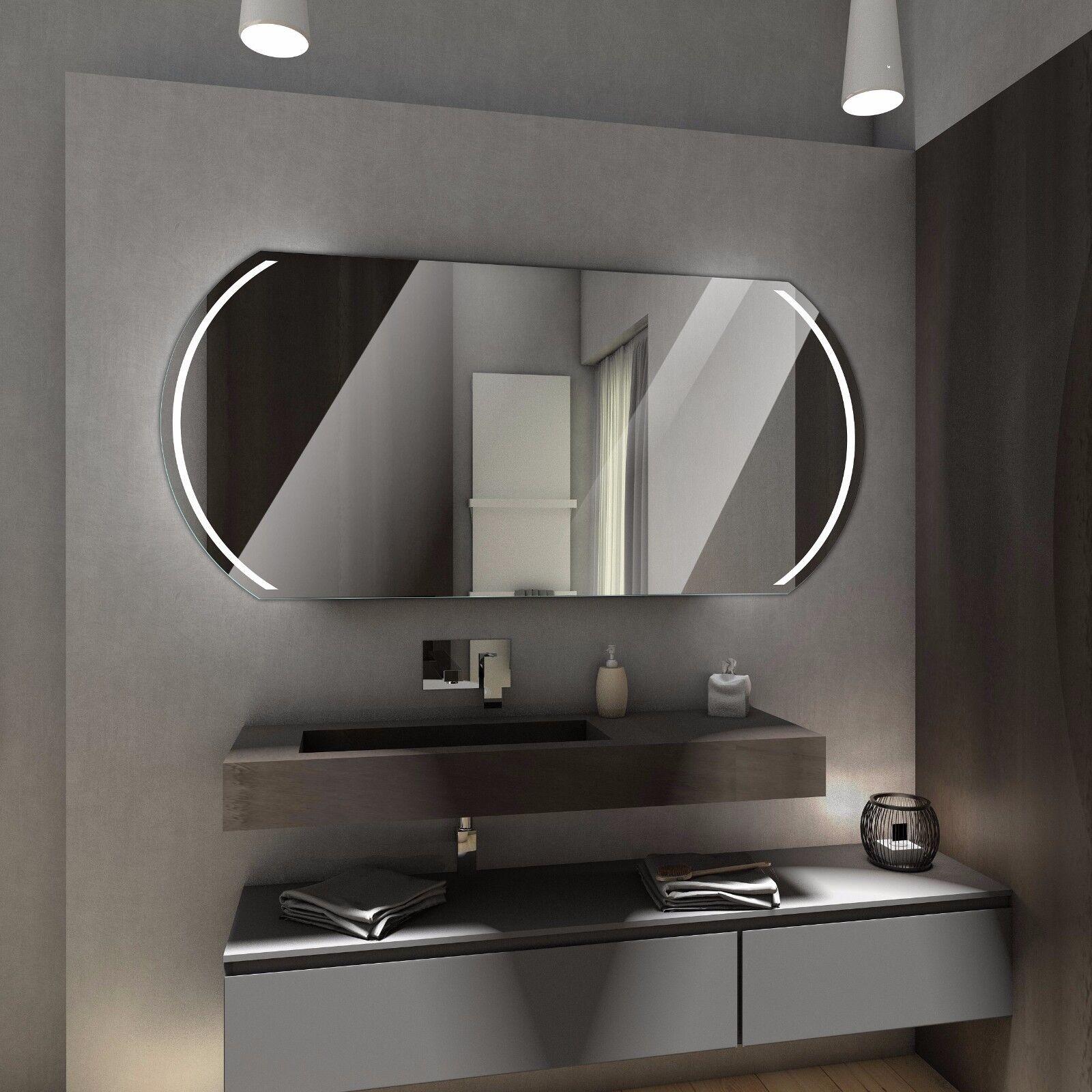 Badspiegel mit LED Beleuchtung Wandspiegel Badezimmerspiegel nach ...
