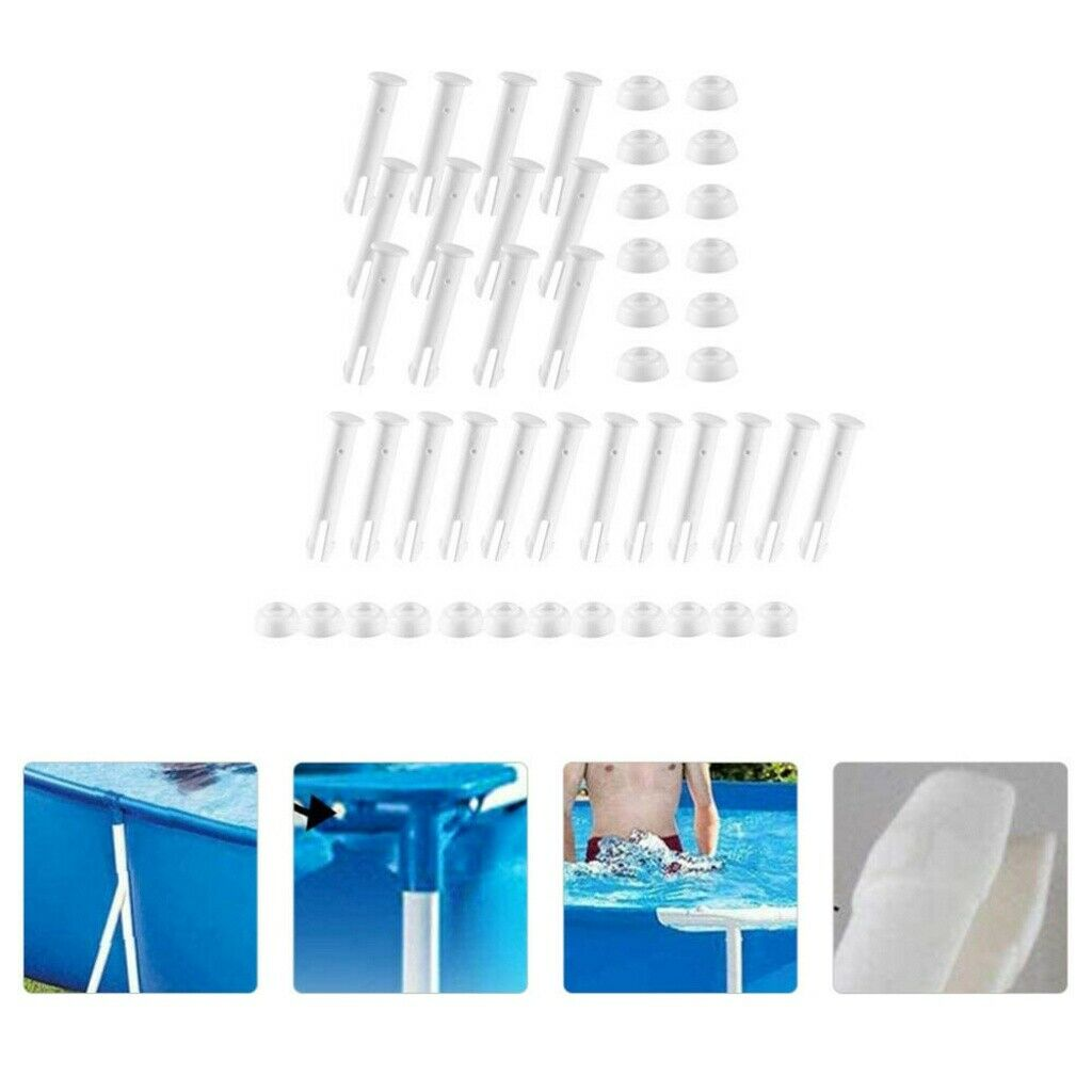24pcs Plastic Joint Pin Sturdy Joint Pin Fittings for Pool Outside