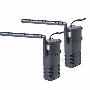 2x aquarium internal filter 3 in 1 multi function pump 50 for 50 gallon fish tank filter