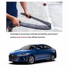Premium Polycarbonate Window Sun Visor Rain Guard for Hyundai Elantra 2016+