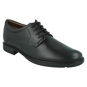 83b6fabd41e HUSH PUPPIES MENS LEATHER WIDE FIT LACE UP PLAIN FORMAL WORK SHOES ...