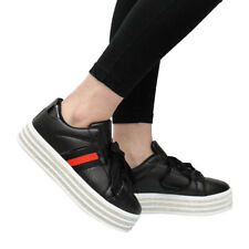 93ad5dab794 item 2 Ladies Women Diamante Platform Lace Up Flat Sneakers Running Trainers  Shoes Size -Ladies Women Diamante Platform Lace Up Flat Sneakers Running ...