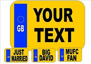 Novelty Number Plate Personalsed Number Plates Fun Number Plates