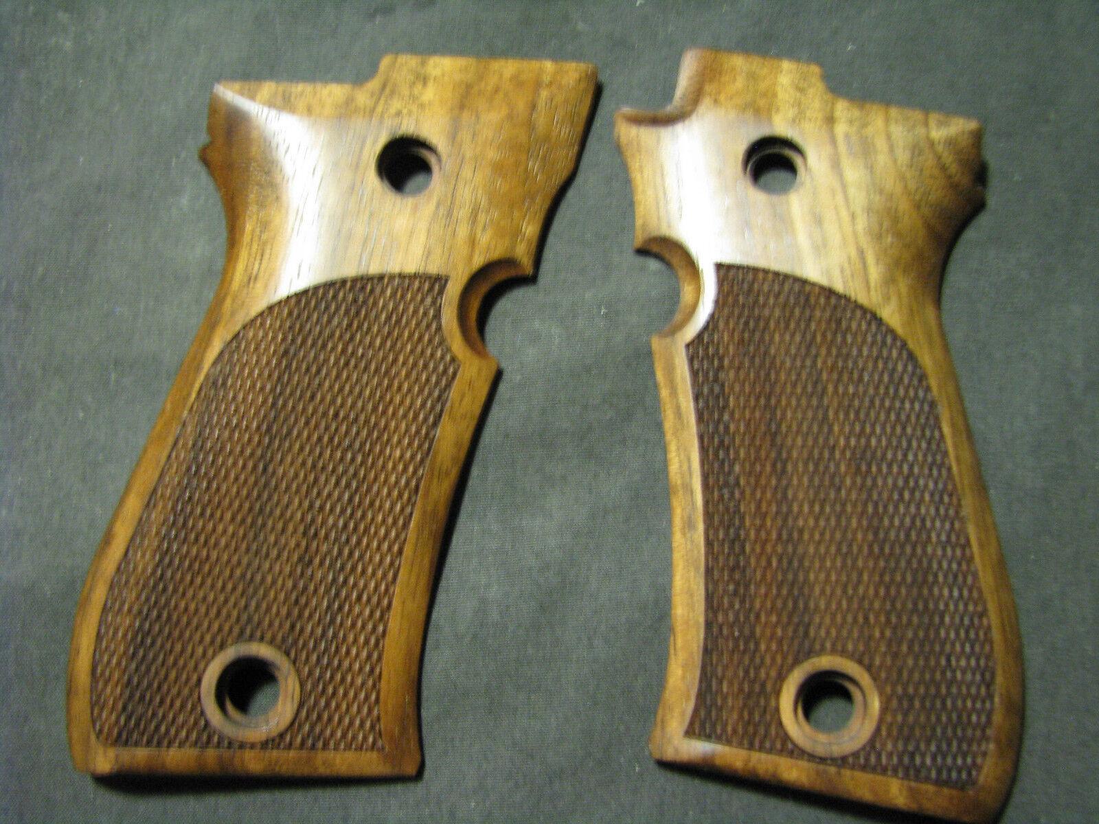 Beretta Cheetah 81 81B 81BB sólo pistola apretones francés Nogal A Cuadros No Logo