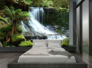 Image Is Loading Jungle Tropical Forest Waterfall Wall Mural Photo Wallpaper