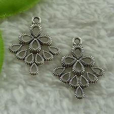 free ship 144 pcs tibet silver earring connector 26x21mm #4042