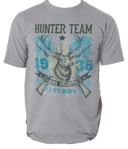 Hunter Team t shirt camping hunting bone collector S-3XL