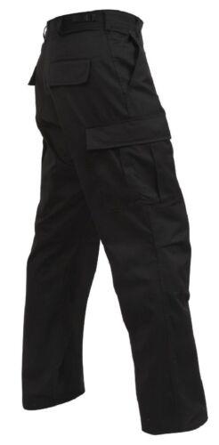 Black 6pkt SWAT Cloth Military Uniform Tactical Rip-Stop BDU Pants 6215