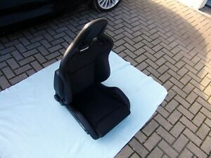 Recaro Sportster Cs Airbag Heated Seats Pair Vinyl Leather Dinamica Brand New Ebay