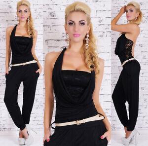 OVERALL-tuta-intera-donna-tutina-pizzo-rete-abito-pantaloni-moda-estate-vestito