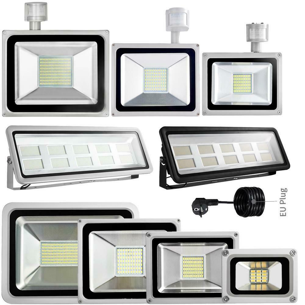 10W 20W 30W 50W 100W 500W 1000W LED Flutlicht Fluter Außen Scheinwerfer Lampe