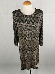 Ladies-Dress-Size-14-Black-Rose-Gold-Shimmer-Party-Evening