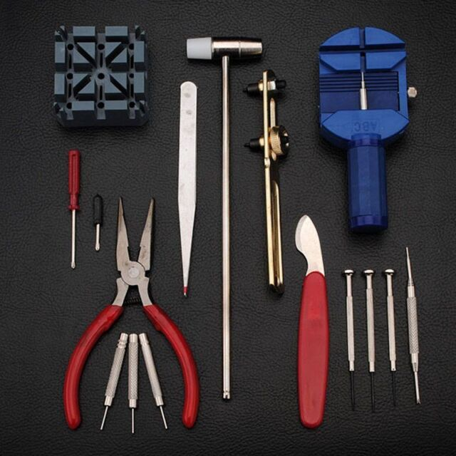16× Watch Repair Tool Kit Link Pin Remover Watches Parts Accessory Screwdriver