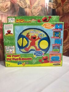 Details About 2005 Techno Source Sesame Street Elmo S World Tv Plug Play Video Game System
