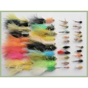Gold Head Nymph Trout Flies Mixed 10//12 6 x GH Orange Silver Ribbed Nymphs