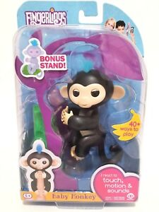 Image Is Loading Fingerlings Walmart Exclusive Interactive Baby Monkey Finn By