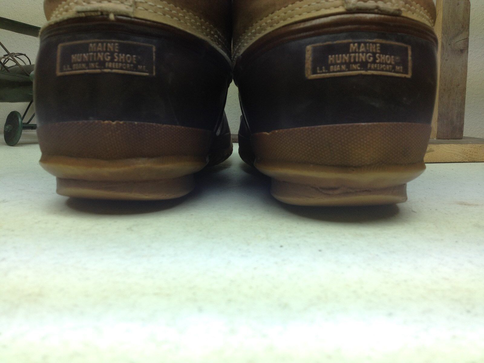 BEAN BOOTS VINTAGE L.L. BEAN USA VINTAGE BOOTS DISTRESSED DUCK HUNTING WINTER SNOW BOOTS 11 EE 3f2212