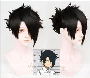 Details About Anime The Promised Neverland Yakusoku No Neverland Ray Short Black Cosplay Wig