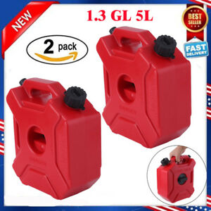 2X Gas Storage 13 Gallon Containers Fuel Pack Can w Mounting Kits
