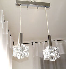 """Kinkeldey Lampe 60er 70"""" Kaskadenlampe Kristall Chrom Mid Century Lamp"""