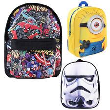 Backpacks Rucksack Kids Boys Girls School bags Star Wars Marvel Simpsons Minions