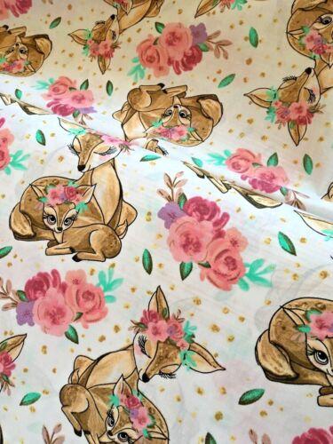 Bambi Faon Bébé 100/% Coton Tissu largeur 160 cm Enfants Imprimé New humingbird