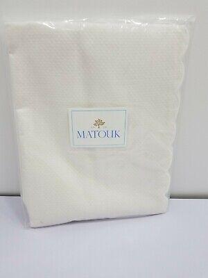 RTL $115 NWOT Matouk King Sham Diamond Pique White