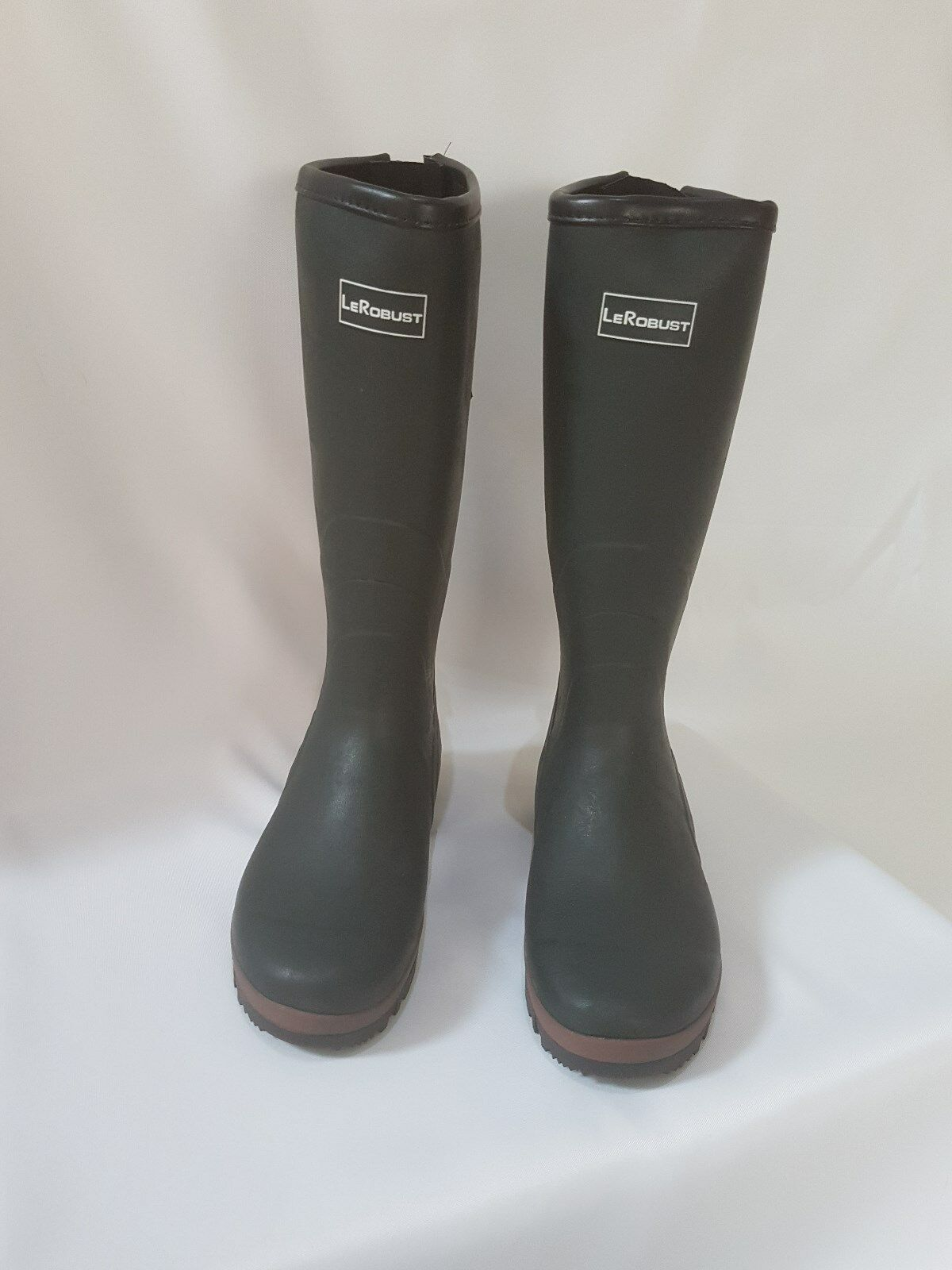 Jersey Lined adjustable green wellies SIZE 10.5 UK