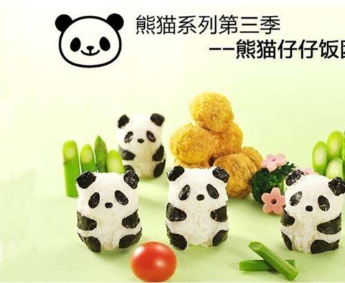 5pc Set Cute Panda Sushi Rice Mold Onigiri Bento Box DIY Kitchen Cooking Tool