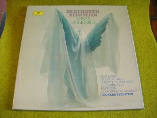 BOX 2 LP BEETHOVEN-BERNSTEIN-MISSA SOLEMNIS-Moser/Schwartz/Kollo/Moll...Deutsch