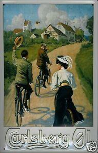 Carlsberg-ciclistas-chapa-escudo-Escudo-marcado-por-3d-jadeara-Tin-sign-20-x-30-cm